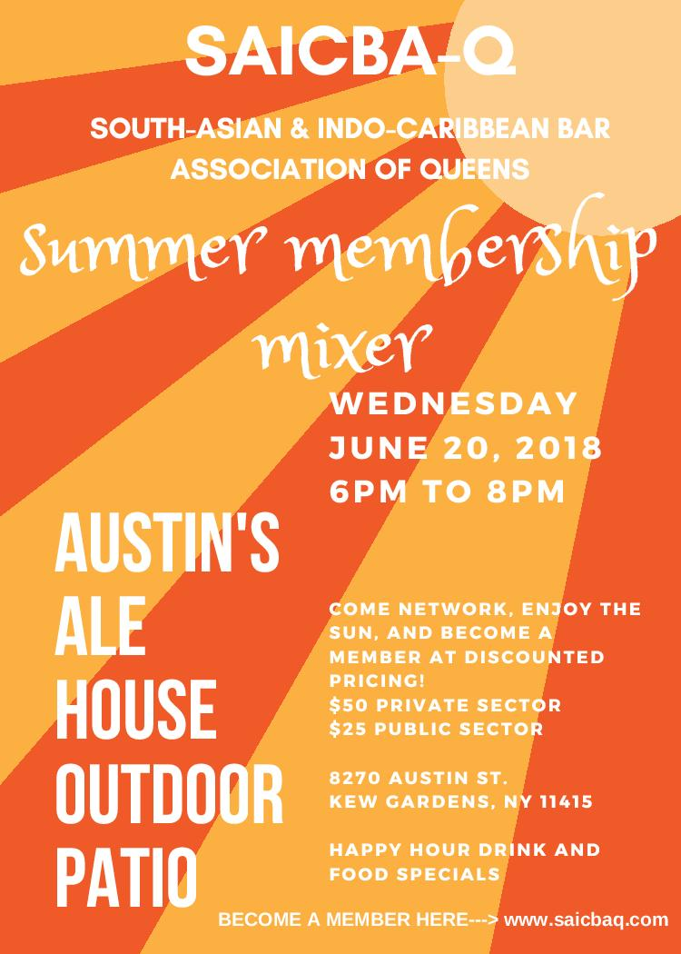 SAICBA-Q Summer Membership Mixer Flyer